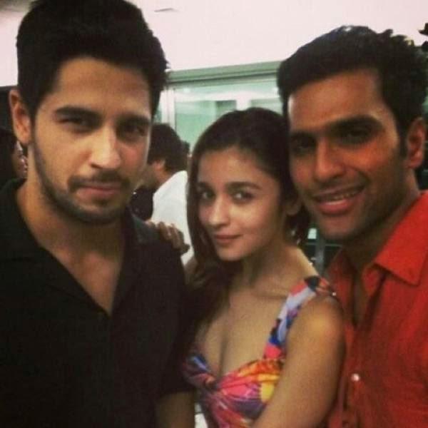Sidharth Malhotra and Alia Bhatt at Karan Johar's party, organised at his residence, on July 26, 2014.