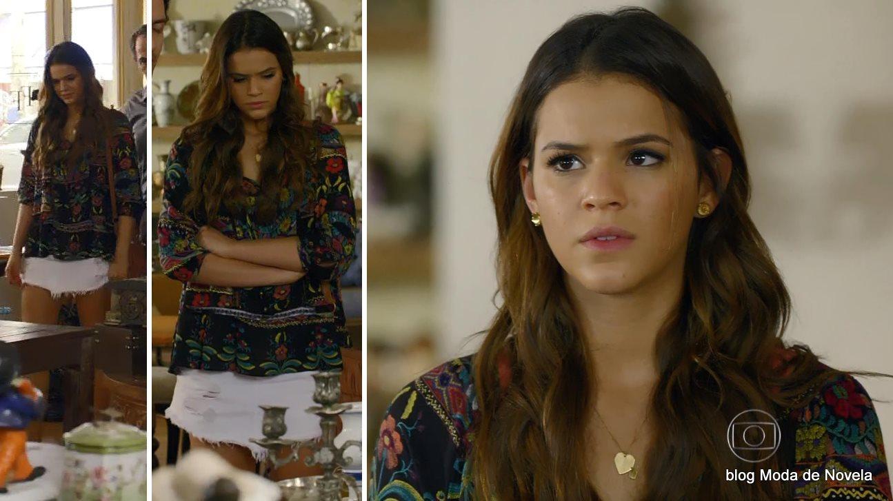 moda da novela Em Família - look da Luiza dia 16 de junho