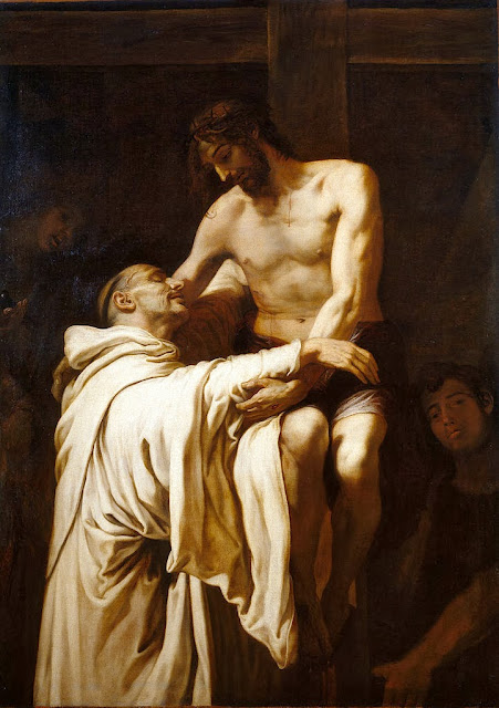 Francisco Ribalta - Deposed Christ hugging St. Bernard Clairvaux