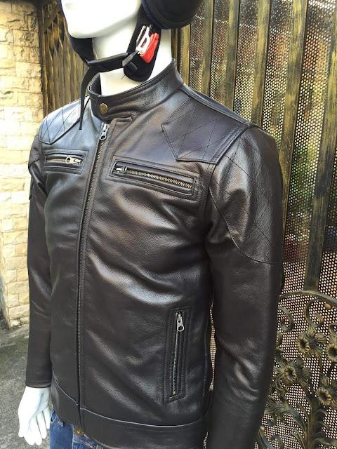 áo khoác da bò nam đen