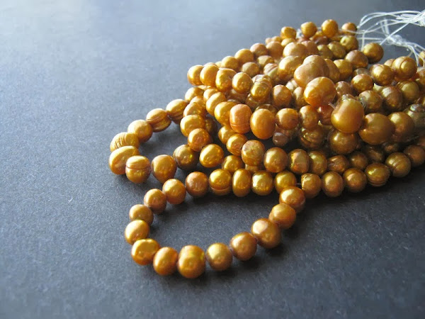 Gold Freshwater Potato Pearls