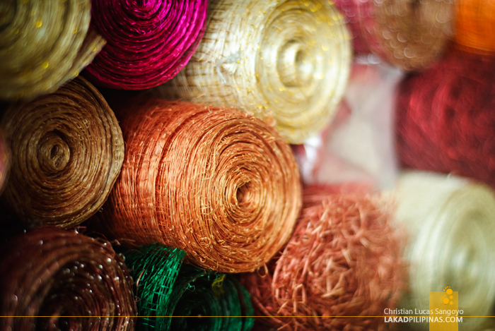 Dyed Abaca at Legazpi's Ibalong Pasalubong Center