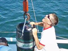 J/24 beer can racing- installation of beer keg