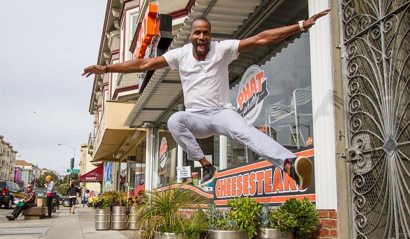 Michael soars in Gray Gingham Seersucker