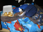 you know it's scotty's bunk when...there are truffles, cookies, a neck pillow, and superman sheets