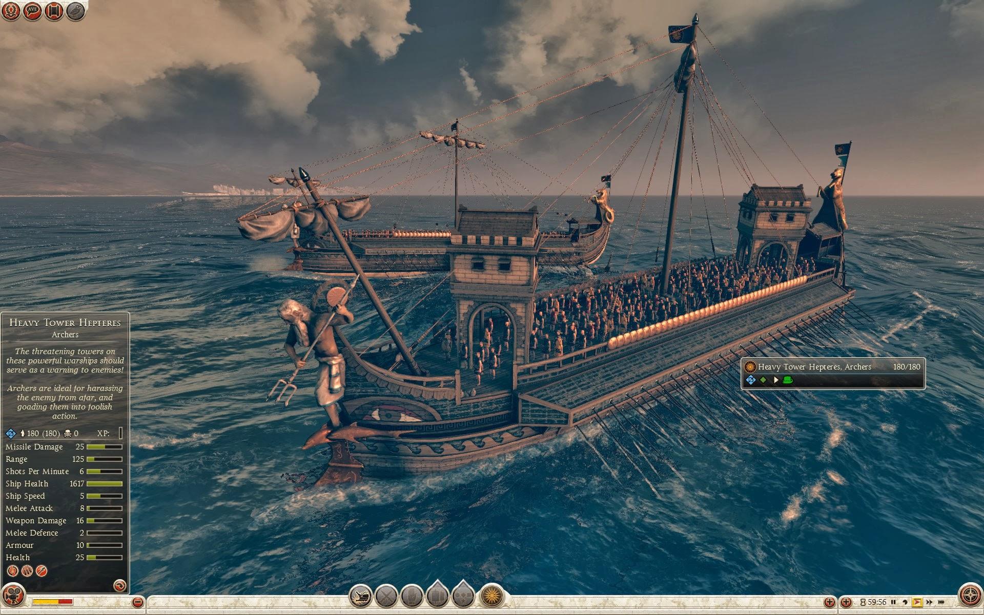 希腊式重塔七桡舰 - 弓箭手