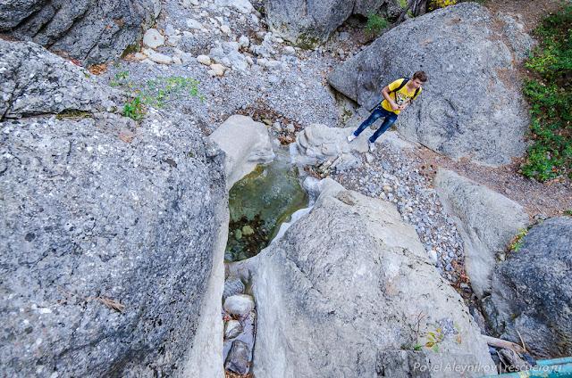 Речка Водопадная. Ниже Учан-Су