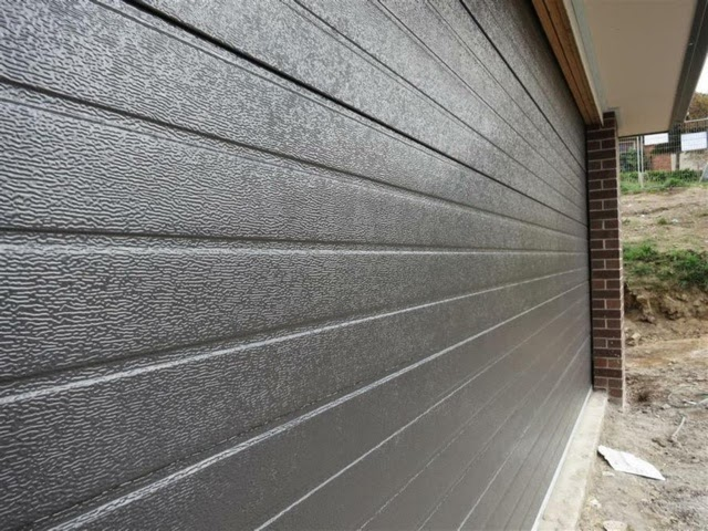 ribline garage door colorbond monument