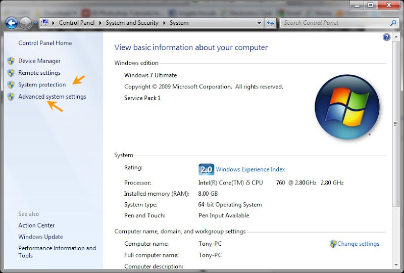 เรียกหน้าต่าง System Properties อย่างรวดเร็วด้วยหน้าต่าง Run Syspro00