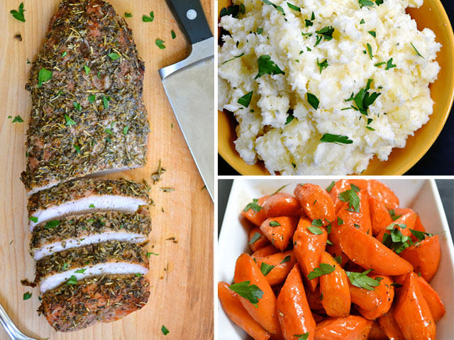 Herb Roasted Pork Loin Dinner