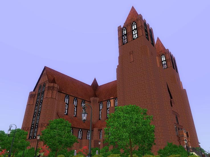 church,cathedral,kerk,kirche,iglesia,sims3