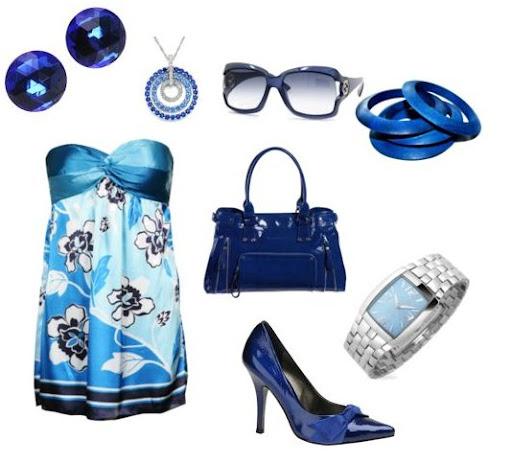 mavi kıyafet kombinasyonu
