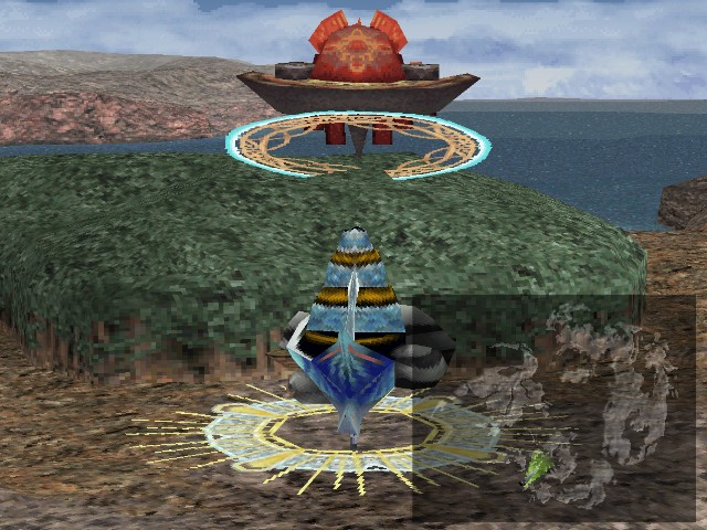 Final Fantasy VIII is not a top PS1 RPG - floating garden battle