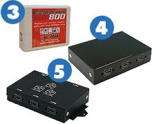 EverythingHerePlus.com offers 3, 4, and 5 port FireWire 800 Repeater Hubs.