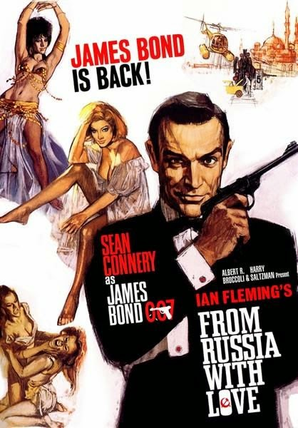 Poster Of From Russia with Love (1963) Full Movie Hindi Dubbed Free Download Watch Online At Alldownloads4u.Com