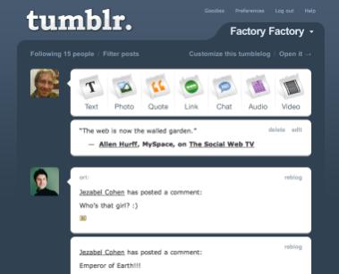 Tumblr 2012 Homepage