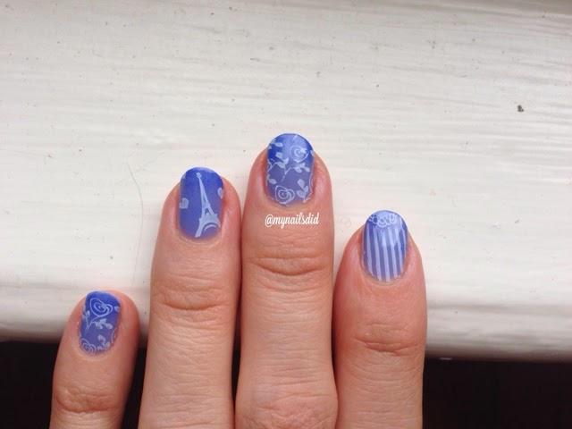 blue ombre parisian MoYou mani
