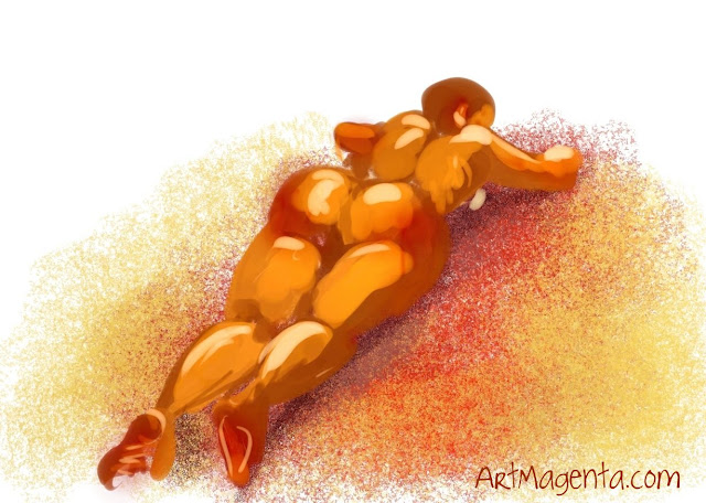 Copacabana beach is a life drawing from ArtMagenta.