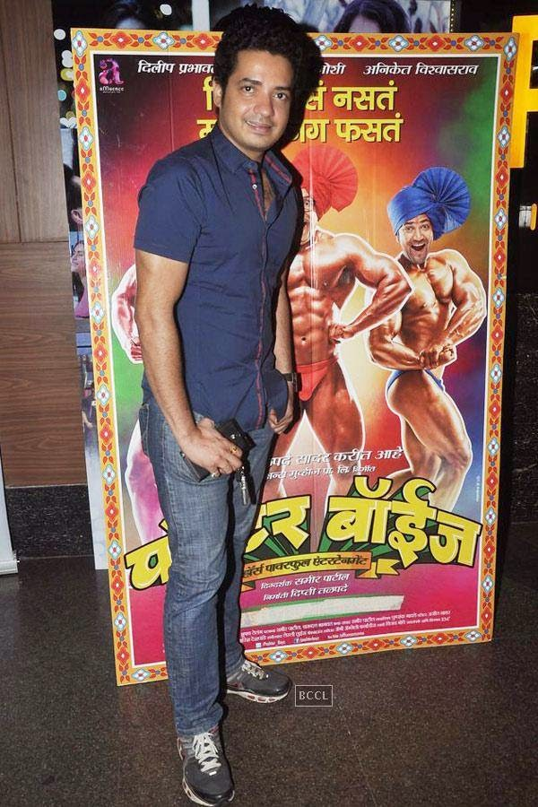 A guest during the screening of Poshter Boyz, in Mumbai, on July 30, 2014. (Pic: Viral Bhayani)