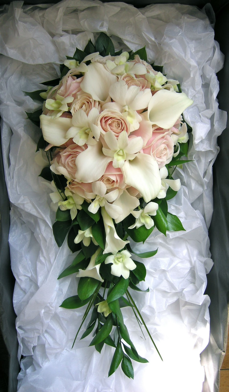 White Calla lily wedding bouquet simple by ... |Lily Bridal Bouquets