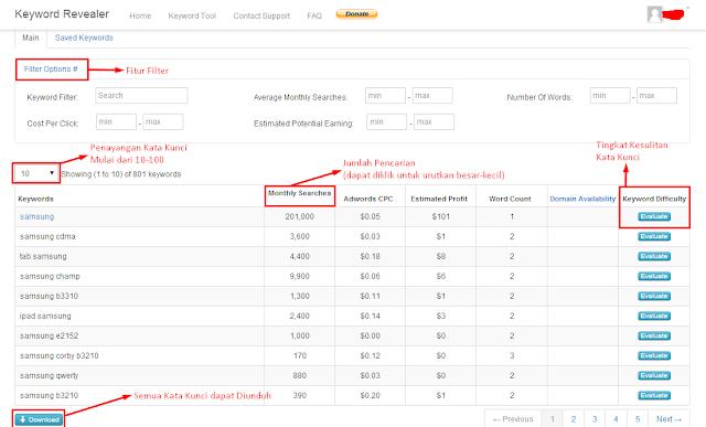 Screenshot 2 KR Gunakan Alat Gratis Ini untuk Riset Kata Kunci