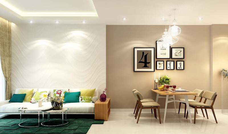 Phòng khách căn hộ Centara Thủ Thiêm