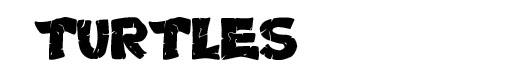 Turtles font logo Tartarugas Ninja