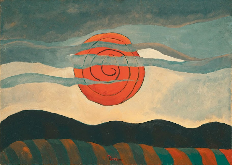 Arthur Dove - Red sun