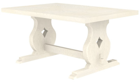 Bordeaux Dining Table in Whitewash Oak