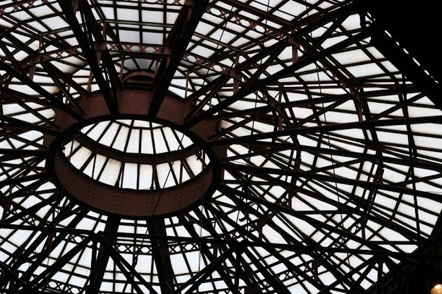the skylight with rigging in silhouette
