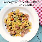 Sausage w/ Yellow Rice and Veggies