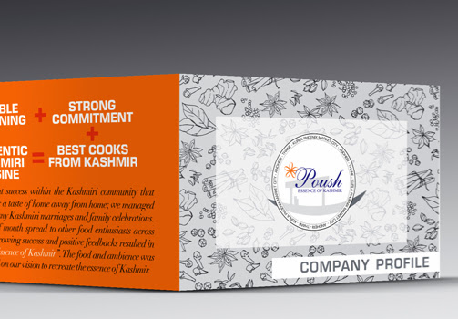 Company brochure outside