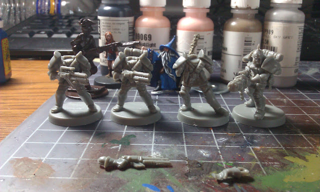 "Warzone Bauhaus Ducal Militia about to be converted into late 19th century German ""Dampfgewehr"" Troopers"