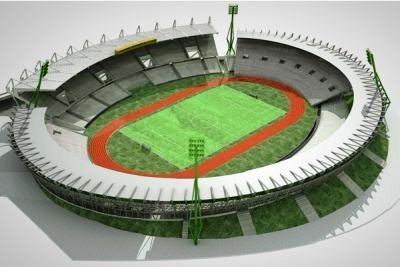 Vista del Estadio Mario Kempes de Cordoba finalizado