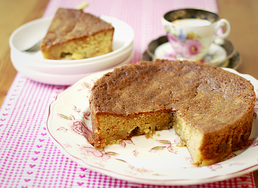 Spiced Apple Cake with Maple Syrup | Katiecakes