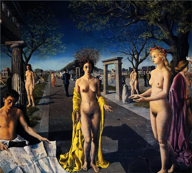 Paul Delvaux - The entrance to the city, 1940