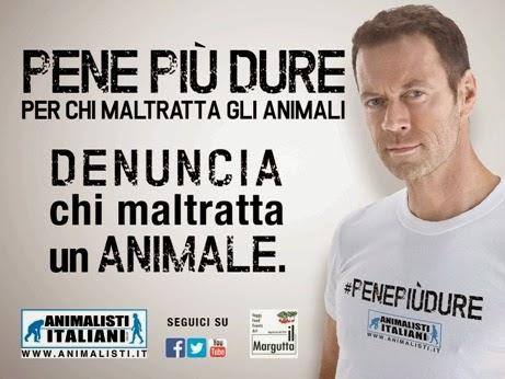 ROCCO SIFFREDI TESTIMONIAL PER GLI ANIMALISTI ITALIANI ONLUS