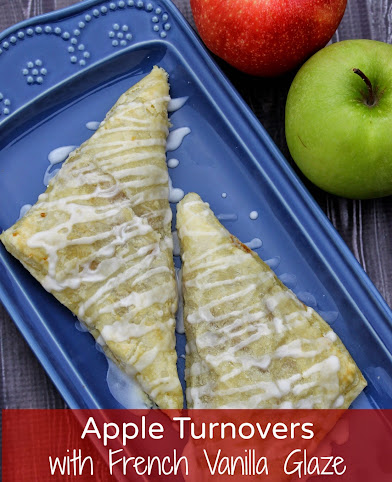Apple Turnover Recipe with French Vanilla Glaze #IDelight