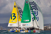 J/80 international one-design- match race sailing France