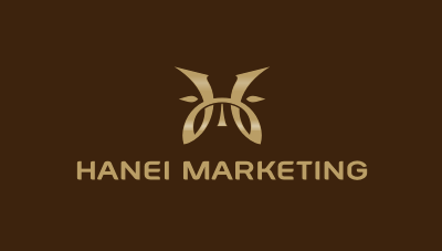 Hanei Marketing advanced b2b marketing company logo design
