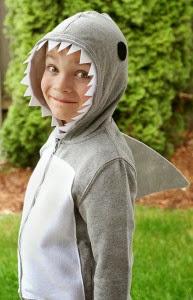 disfraz de tiburón casero