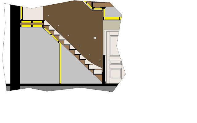 Verbouwing rijwoning in oostende bouwinfo for Trap doorsnede