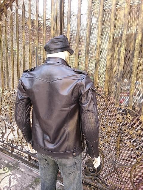 áo khoác da nam thật màu đen da bò