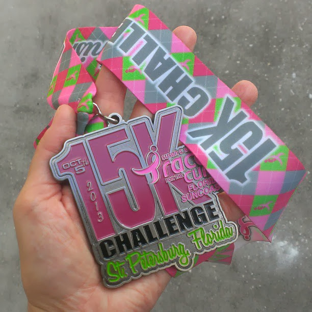 RacefortheCure15Kmedal Race for the Cure 15K Challenge Recap