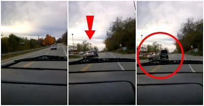 Acidente brutal com colisão entre três veículos na Route 21 em Fayette County