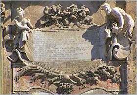 Sizilien, Palermo - Ausschnitt aus der Fassade des ehemaligen Collegio dei Gesuiti, heute Biblioteca Centrale. Hier ging Emanuele Notarbartolo zur Schule
