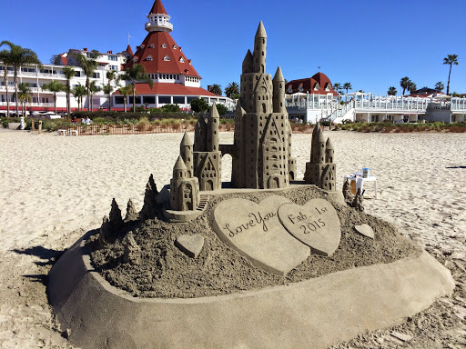 The sand castle man's creattion at Coronado Island
