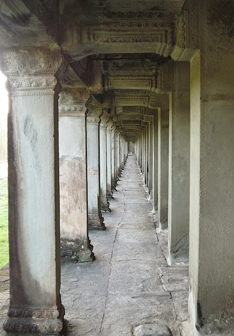 one of the outer galleries of Angkor Wat