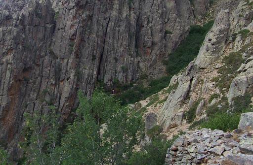 La douche vue depuis les cabanes de Vetta di Muru
