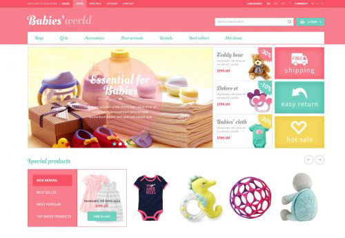 Free download Prestashop Baby Apparel Online Template – ET Babies